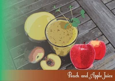 Zumo de melocotón y manzana