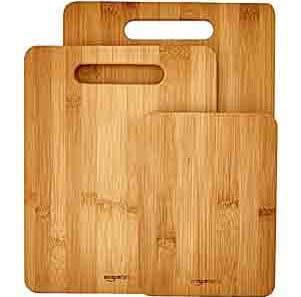 Juego de tablas de cortar de bambú de 3 piezas AmazonBasics